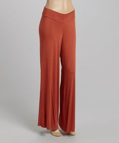 Another great find on #zulily! Rust Palazzo Pants #zulilyfinds
