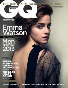 Emma Watson Covers 'British GQ' October Just beautiful! Ive always been a tid obsessed with emma. she just has effortless beauty and perfection. have to have this issue of GQ Emma Watson, Harry Potter Film, Anna Kendrick, Hogwarts, Rupert Murdoch, Uk Magazines, The Bling Ring, Fashion Cover, Fashion Mag