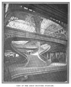 f Les Grands Magasins Dufayel, a massive structure unlike other Parisian… Unique Buildings, Interesting Buildings, Paris Buildings, Historical Art, Historical Architecture, Beautiful Architecture, Architecture Details, Victorian Greenhouses, Monuments