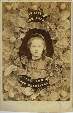 """In Life How Fair, The End How Beautiful"", [memorial carte de visite], ca. 1860's"
