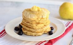 These Sugar-Free, Oil-Free Oatmeal Pancakes are made entirely from oats and have NO added sugar or oil! A simple and easy recipe that our family loves.