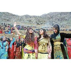 Kurdish Girls in traditional Dresses during the Newroz Ceremony in Tehsangi village near Kamyaran City in the Kurdistan Province, Iran. Photo by: afshin fattahi