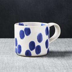 Maude Blue Dots Mug