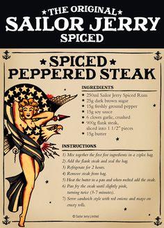 Sailor Jerry Steak <3 #MaryBerry #CooksthePerfect #PinthePerfect