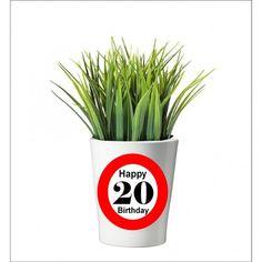 132 -  Geburtstagsgeschenk 20 Pflanzentopf ohne Pflanze Happy 20th Birthday, Happy 30th, 30th Birthday, Tableware, Plants, Gifts, Dinnerware, Dishes, Place Settings