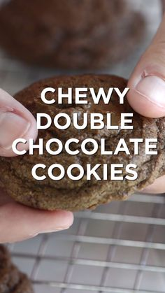 Easy double chocolate cookies with butter, cocoa powder and chocolate chunks. #cookies #recipe #dessert