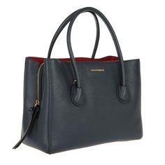 5a73d34e3439a Coccinelle Celly Leather Handbag Blue Merlot bei Fashionette Minimal  Classic