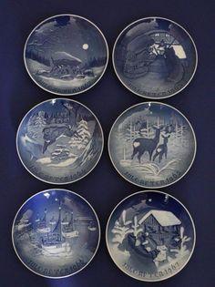 6 Bing and Grondahl Christmas Plate Set ~ 1962-1967 B&G Six Annual Plates ~ Nice #babescollectibles