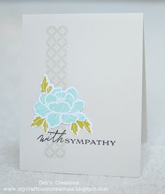 My Craftroom Creations: Retro sketches #14.  Beautiful layout for sympathy card.