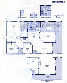 fleetwood mobile home floor plans and prices | Click Here For Series 28 2565 Sq. Ft Printable Version
