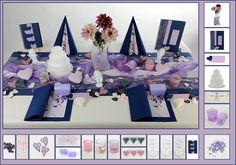 Tischdeko Hochzeit 13 in Dunkelblau als Mustertisch - Tafeldeko.de