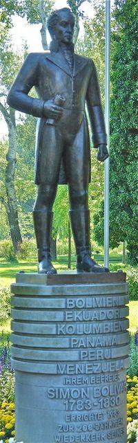 Simon Bolivar in Vienna,Donaupark. Photo:T.Graffe