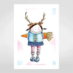 Fine art Little girl por Ed Hand & Ink  R$48,00