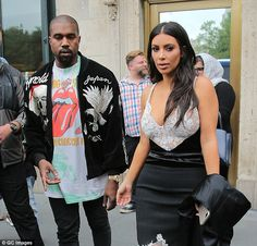 His woman: Jenner also commented that he was Kim Kardashian's 'soul mate'; here the couple is seen on June 5 in NYC