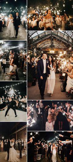 Sparkler Send Off Photographs // How To Set Up A Sparkler Send Off At A Wedding