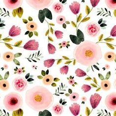 "Secret Garden in White 7"" by shopcabin Floral Nursery, Nursery Decor, Nursery Fabric, Baby Girl Crib Bedding, Nursery Bedding, Minky Blanket, Coton Bio, Floral Fabric, Floral Prints"