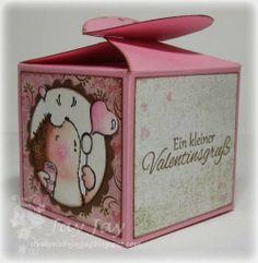 Stempeleinmaleins: Box mit Herzverschluss / heart topped box