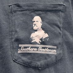 Robert E. Lee Southern Gentleman Pocket Tee Shirt