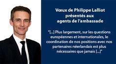 L'ambassadeur de France, Philippe Lalliot, a adressé ses vœux pour la nouvelle année 2017 aux agents de l'Ambassade et à l'ensemble de ses services autour de la traditionnelle galette des Rois, le mardi 24 janvier, à la Résidence de France.