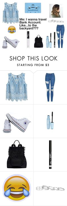 """""""CUBAAAA"""" by maryjsullivan ❤ liked on Polyvore featuring H&M, Topshop, Converse, Maybelline, CASSETTE, Elizabeth and James, Rimmel, Kendra Scott, NARS Cosmetics and lol"""