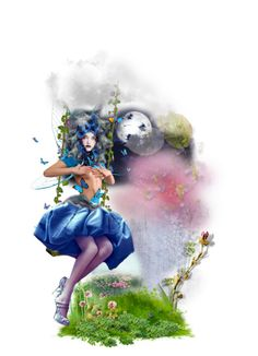 """Cinnia"" by jujubeeluvsu ❤ liked on Polyvore featuring art, fantasy, magic, fairies, fae and Nymphs"