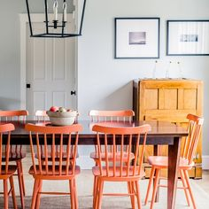 A Modern Maine Farmhouse Embraces Color and Style | Martha Stewart Living - This new-construction farmhouse honors the past with its form and architecture, while acknowledging the present through unexpected pops of color and modern furnishings.