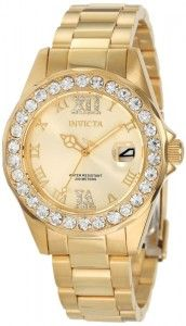49c5d931bf8 Invicta Women s 15252 Pro Diver Gold Dial Gold plated Stainless Steel Watch  For more info