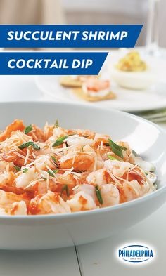 Forget the track. It'll be a race to the table when you lay out this delicious recipe for succulent Shrimp Cocktail Dip. Just add Philadelphia Cream Cheese, cooked shrimp, green onions, Parmesan, a dash of cocktail sauce and a pinch of southern magic.