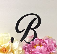 Personalized Monogram Wedding Cake Topper  by CreativeButterflyXOX, $12.95