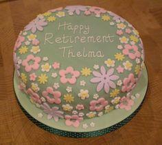 Retirement Cake Ideas For Women   Flower Garden Retirement Cake Flower Garden Retirement Cake ...