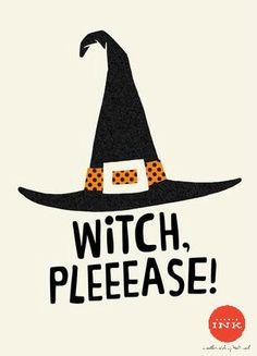 Wicked Witch Hat Halloween Card   Come on, girl… wish a great friend a super fun Halloween with this punny card.