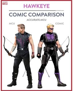 """1,045 Likes, 18 Comments - • Accurate.MCU • mcu fanpage (@accurate.mcu) on Instagram: """"• HAWKEYE - COMIC COMPARISONS • Hawkeye is one of favourite character from both the comics and the…"""""""