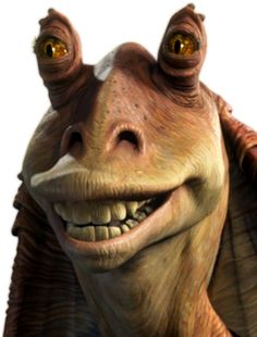 The-sa my Senator Jar Jar Binks. He-sa sell us Gungans out to help he-sa friend Palpatine. Now-sa we-sa in big doo-doo dis time. Jaja Binks, Star Wars Rebels, Star Trek, Star Wars Jar Jar, Galactic Republic, Best Sci Fi, Star Wars Tattoo, The Phantom Menace, The Empire Strikes Back