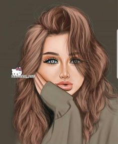 Find images and videos on We Heart It - the app to get lost in what you love. Beautiful Girl Drawing, Cute Girl Drawing, Cartoon Girl Images, Cute Cartoon Girl, Lovely Girl Image, Girls Image, Oblyvian Girls, Foto Top, Best Friend Drawings