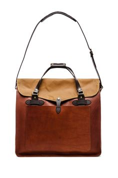 Filson Large Leather Tote in Cognac | REVOLVE