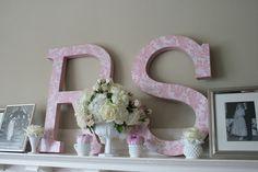 DIY Lace-painted letters