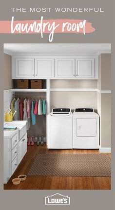 Find The Best Set-Up For Your Laundry Room Situation By Shopping Today - Wash Smarter, Not Harder. Mudroom Laundry Room, Laundry Room Remodel, Laundry Room Organization, Laundry Room Design, Laundry In Bathroom, Laundry Area, Design Kitchen, Laundry Shoot, Organizing