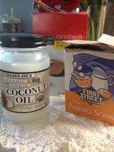 Diy deodorant - Equal parts coconut oil, baking soda and cornstarch. You can pour it into an old deodorant bottle, mold it into a bar and keep it in the fridge or leave it in a tupperware in the bedroom or bathroom and apply with your fingers Try it, you'll love it I promise.