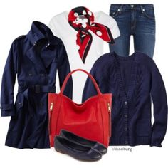 Navy Red - Polyvore