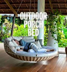 I need this in my life (but w/ a mosquito net)..!!