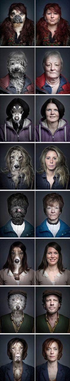 "You know what they say...dogs really do look like their owners, or at least that's the case in Swiss photographer Sebastian Magnani's latest photo series ""Underdogs""."