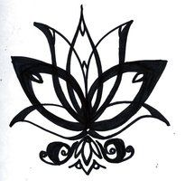EGYPTIAN LOTUS FLOWER B_W by ~ldykalypso on deviantART