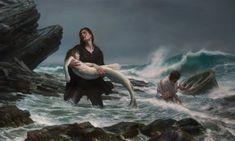 traurige bilder ein mann und die kleine meerjungfrau
