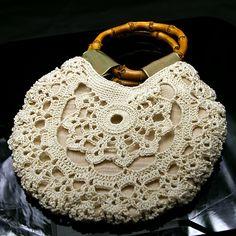 Vintage pattern: crochet bangle purse #crochet #purse #handbag