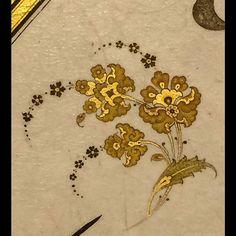 Arda çakmak Illuminated Manuscript, Illuminated Letters, Medieval Manuscript, Arabesque, Disney Drawing Tutorial, Pattern Art, Pattern Design, Islamic Patterns, Turkish Art