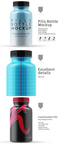 Pill Bottles, Drink Bottles, Mockup Photoshop, Change Image, Container Design, Bottle Mockup, Lightroom Presets, Pills, Color Change