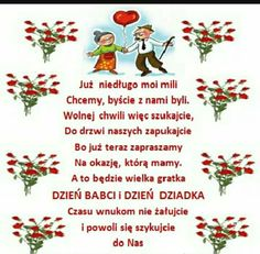 Zaproszenie na dzień babci i dziadka Mather Day, Diy And Crafts, Crafts For Kids, Silvester Party, Grandma And Grandpa, Grandparents Day, Family Day, Classroom Decor, Birthday Wishes