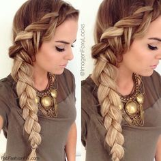 Beautiful Dutch braided hair inspiration. #braid #dutch #braided