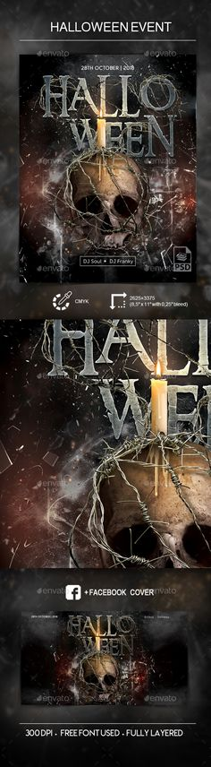 Buy Halloween Event - PSD Flyer Template by dr_slide on GraphicRiver. Halloween Event Flyer Template File in PSD Fully Customizable CMYK Fully lay. Halloween Flyer, Halloween Design, Halloween Party, Print Templates, Psd Templates, 28th October, Flyer Printing, Event Flyer Templates, Scary