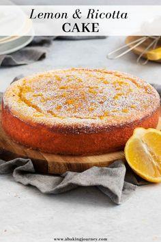 Ricotta Dessert, Lemon Ricotta Cake, Lemon Tea Cake, Citrus Recipes, Easy Cake Recipes, Sweet Recipes, Ricotta Cheese Recipes, Delish Cakes, Light Desserts